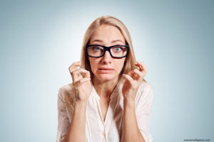 Shocked Woman Dry Winter Air Olathe
